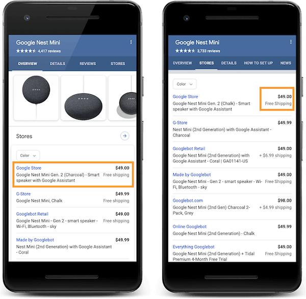 Retailers can now include shopping details with their snippet in Google Search
