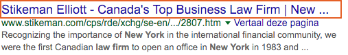 Exemple du titre pour Law Firm New York