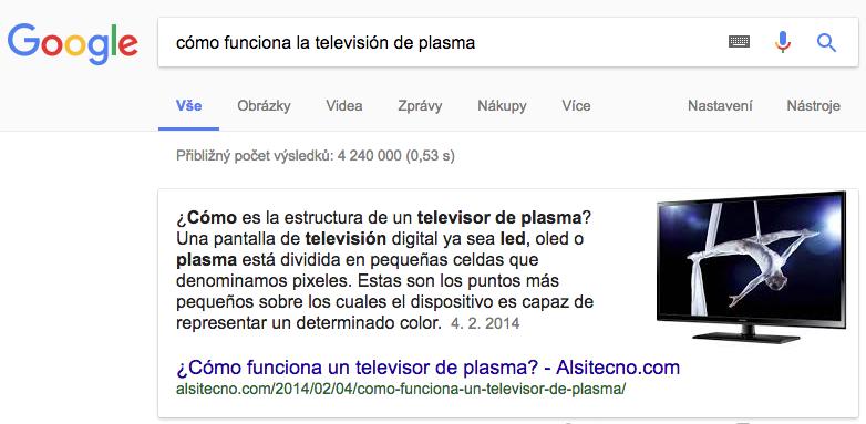 Fregmento destacado en Google