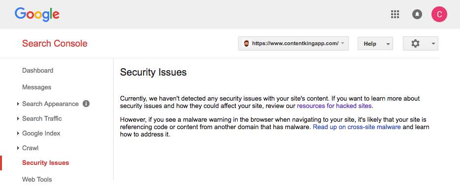 Google no security issues