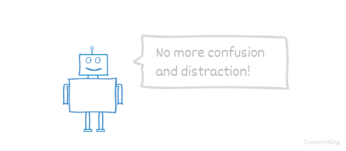 Content Pruning: happy robot crawler