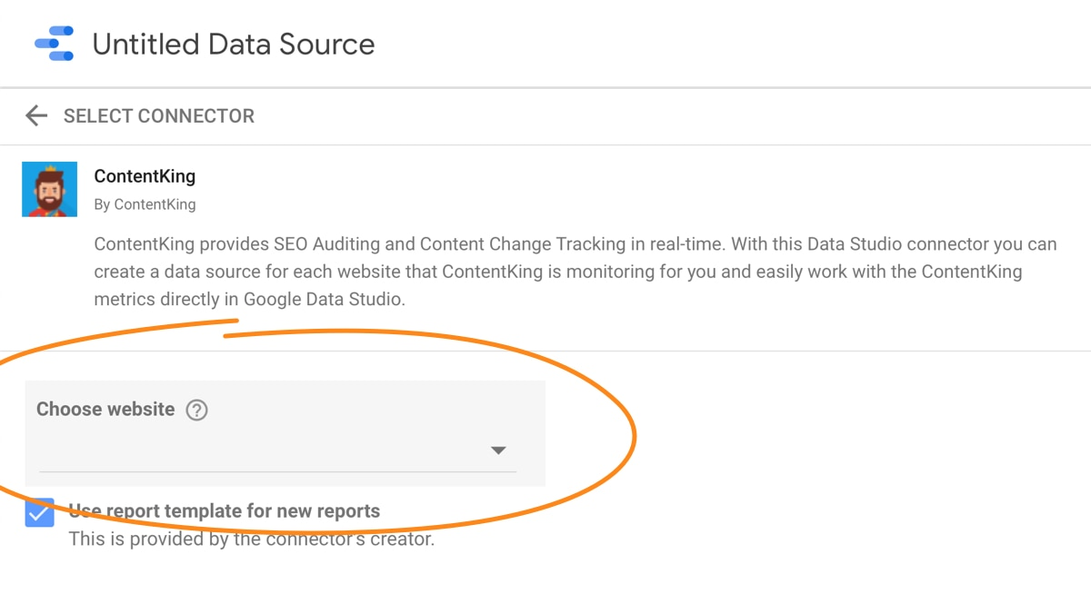 Setting up the Google Data Studio integration -- Step 4
